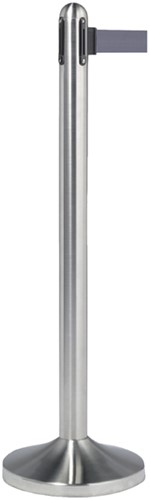 AFZETPAAL SECURIT RVS 100CM ROLBAND -OVERIG FACILITAIR RS-RT-RVS-GY-SET 210CM GRIJS