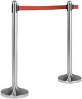 AFZETPAAL SECURIT RVS 100CM ROLBAND -OVERIG FACILITAIR RS-RT-RVS-RD-SET 210CM ROOD