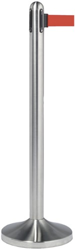 AFZETPAAL SECURIT RVS 100CM ROLBAND -OVERIG FACILITAIR RS-RT-RVS-RD-SET 210CM ROOD-1