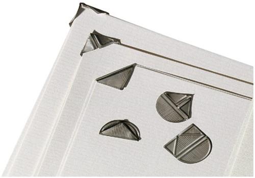 Hoekclip aluminium zilver paperclips 63000 hoekclips aluminium zilver bij kantoorboekhandel laan - Hoe u stuks scheidt ...