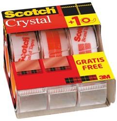 PLAKBAND 3M SCOTCH CRYSTAL 19MMX7.5M -PLAKBAND EN PLAKBANDHOUDERS XA-0048-3593-1 2+1 GRATIS