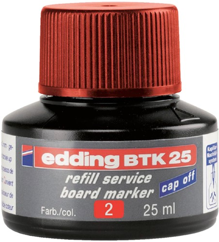 VILTSTIFTINKT EDDING BTK25 VOOR -VILTSTIFTEN WHITEBORDEN 4-BTK25002 WHITEBOARD ROOD