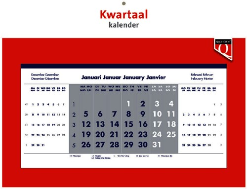 Kwartaalkalender 2020 quantore -K36049 336049