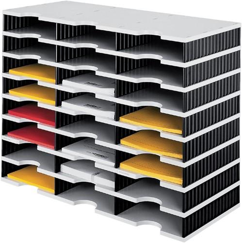 VAKKENSET STYRODOC A4 24VAKS -POSTSORTEERSYSTEMEN 268-0308.98 ZWART/GRIJS