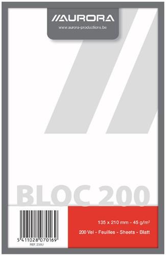 KLADBLOK 210X135MM 200V BLANCO -SCHRIJF- EN COLLEGEBLOKKEN 208U