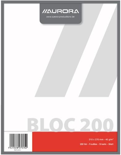 KLADBLOK 270X210MM 200V BLANCO -SCHRIJF- EN COLLEGEBLOKKEN 204U