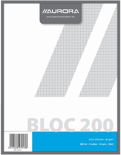 KLADBLOK 270X210MM RUIT 5X5MM 200V -SCHRIJF- EN COLLEGEBLOKKEN 204Q5