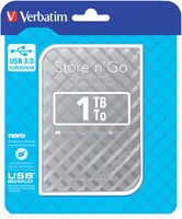HARDDISK VERBATIM 1TB HDD USB 3.0 -HARDDISKS 53197 ZILVER-2