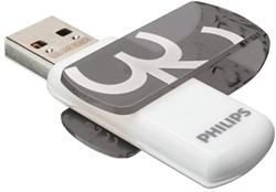 USB-STICK PHILIPS VIVID KEY TYPE 32GB -USB STICKS PHMMD32GBVIV 2.0 GRIJS