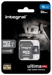 GEHEUGENKAART INTEGRAL MICRO SDHC 16GB -GEHEUGENKAARTEN INMSDH16G10-90U1 ULTIMAPRO CL10