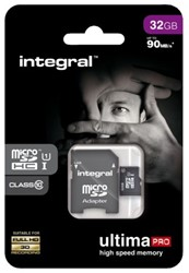 GEHEUGENKAART INTEGRAL MICRO SDHC 32GB -GEHEUGENKAARTEN INMSDH32G10-90U1 ULTIMAPRO CL10
