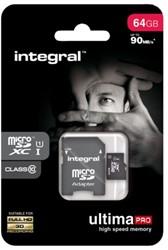 GEHEUGENKAART INTEGRAL MICRO SDXC 64GB -GEHEUGENKAARTEN INMSDX64G10-90U1 ULTIMAPRO CL10