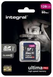 GEHEUGENKAART INTEGRAL SDHC 128GB -GEHEUGENKAARTEN INSDX128G10-80U1 ULTIMAPRO CL10