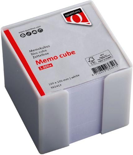 MEMOKUBUS QUANTORE 10X10X10CM 1000V WIT -HUISMERK BUREAUARTIKELEN 392457 Memokubus quantore 10x10x10cm wit 1000v