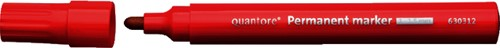 Viltstift quantore perm rond 1-1.5mm -Her-2400b red PER-2400B RED Rood