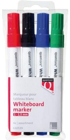 VILTSTIFT QUANTORE WHITEB ROND 1-1.5MM -HUISMERK SCHRIJFWAREN 4WBM-2450B_SOFTPOUCH ASS