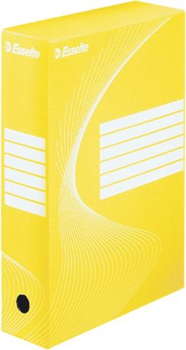 ARCHIEFDOOS ESSELTE BOXY 80MM GEEL -ARCHIEFDOZEN 128413