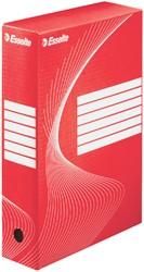 ARCHIEFDOOS ESSELTE BOXY 80MM ROOD -ARCHIEFDOZEN 128412 OFFICE