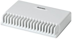 NETWERKSWITCH HAMA 1:8 10/100/1000 MBPS -PC RANDAPPARATUUR 53183 WIT