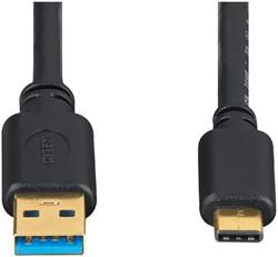 KABEL HAMA USB 3.1 A-C 0.75M ZWART -KABEL MANAGEMENT 135735