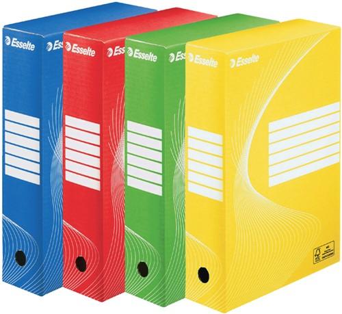 ARCHIEFDOOS ESSELTE BOXY 80MM GEEL -ARCHIEFDOZEN 128413-2