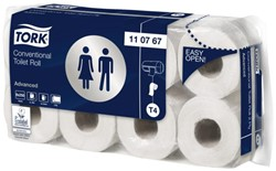 TOILETPAPIER TORK 2LAAGS WIT T4 -SANITAIR PAPIERWAREN 61812 ADVANCED 110767