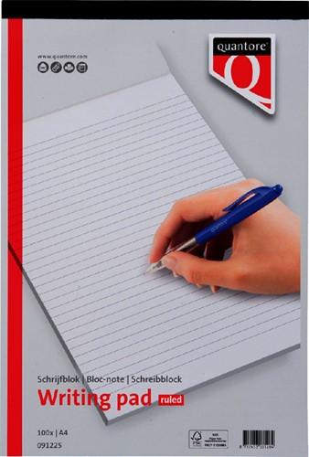 SCHRIJFBLOK QUANTORE BASIC A4 LIJN 60GR -HUISMERK SCHRIJFBLOKS 091225 Schrijfblok quantore a4 netto lijn 60gra