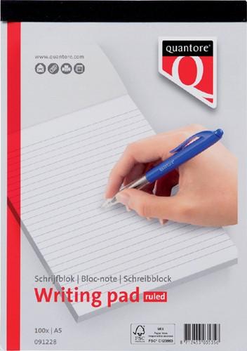 SCHRIJFBLOK QUANTORE BASIC A5 LIJN 60GR -HUISMERK SCHRIJFBLOKS 091228 Schrijfblok quantore a5 netto lijn 60gra