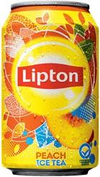 FRISDRANK LIPTON ICE TEA PEACH BLIKJE -KOUDE DRANKEN 8711200175444 0.33L