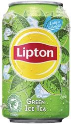 FRISDRANK LIPTON ICE TEA GREEN BLIKJE -KOUDE DRANKEN 8714100616925 0.33L
