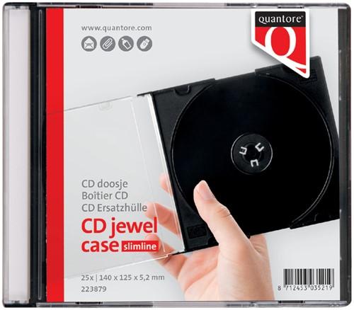 CD DOOS QUANTORE LEEG JEWELCASE -HUISMERK COMPUTERTOEBEHOREN 10X10MMBK Cd doos quantore jewelcase leeg