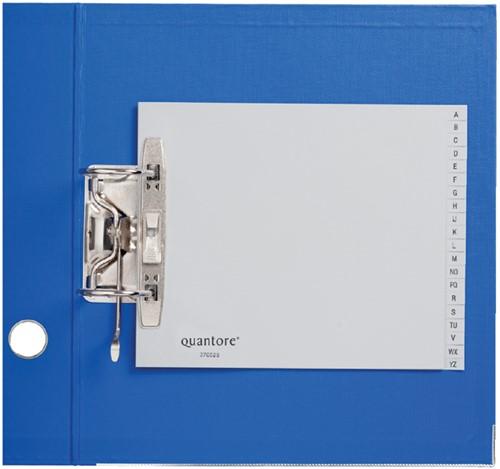ORDNERALFABET QUANTORE 18X23 2RINGS PP -HUISMERK TABBLADEN 270525 GRIJS