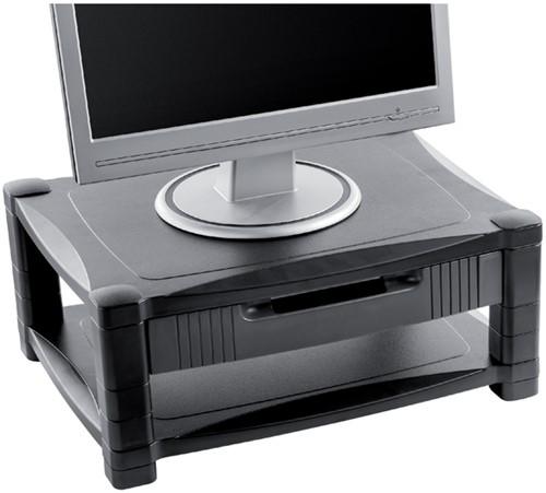 MONITORSTANDAARD QUANTORE 36KG ZWART -HUISMERK COMPUTERTOEBEHOREN SC-3 Monitorplateau quantore lcd zwart grijs