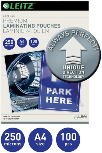 LAMINEERHOES LEITZ ILAM A4 2X250MICRON -LAMINEERHOEZEN 74840000 LAMINEERHOES FELLOWES FOTO 159X108MM 80M-2