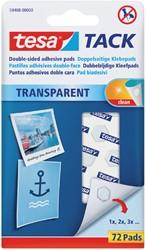 KLEEFPAD TESA TACK TRANSPARANT 72 STUKS -PLAKBAND EN PLAKBANDHOUDERS 59408-00000-00