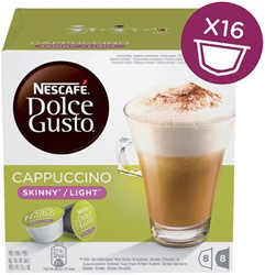 DOLCE GUSTO CAPPUCCINO LIGHT 16 CUPS / -WARME DRANKEN 12120398 8 DRANKEN