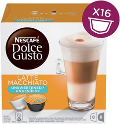 DOLCE GUSTO LATE MACCHIATO UNSWEETENED -WARME DRANKEN 12120283 16 CUPS / 8