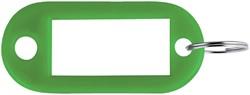 SLEUTELLABEL PAVO PLASTIC DONKERGROEN -SLEUTELKASTJES EN TOEBEHOREN 8008933 SLEUTELTOEB