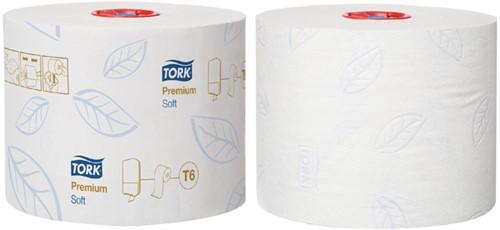 TOILETPAPIER TORK T6 MID-SIZE 2LAAGS -SANITAIR PAPIERWAREN 127520 PREMIUM 27 ROL 127520