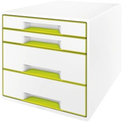 LADENBOX LEITZ WOW 4 LADEN WIT/GROEN -LADENBOXEN 52132064