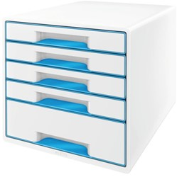 LADENBOX LEITZ WOW 5 LADEN WIT/BLAUW -LADENBOXEN 52142036