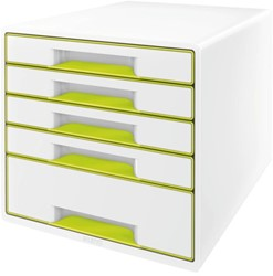 LADENBOX LEITZ WOW 5 LADEN WIT/GROEN -LADENBOXEN 52142064