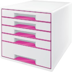 LADENBOX LEITZ WOW 5 LADEN WIT/ROZE -LADENBOXEN 52142023