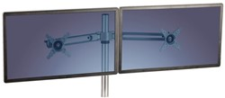 MONITORARM FELLOWES LOTUS DUBBEL ZWART -FLATSCREENSTANDAARDEN EN ARMEN 8042901