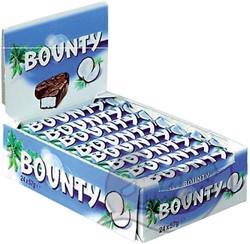 BOUNTY SINGLE MELK 57GR -ETENSWAREN 104059
