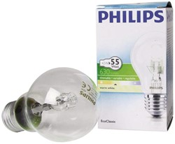 HALOGEENLAMP PHILIPS E27 42W 230V A55 -LAMPEN EN VERLICHTING 152975 ECOCLASSIC