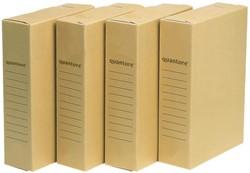 ARCHIEFDOOS QUANTORE A4 230X80X320MM -HUISMERK OPBERGMIDDELEN 544319 ARCHIEFDOOS OFFICE STORE A4 230X80X320MM
