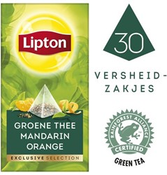 THEE LIPTON EXCLUSIVE GROENE THEE -WARME DRANKEN 19951101 MANDARIJN