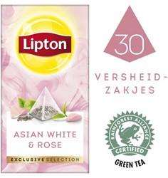 THEE LIPTON EXCLUSIVE AZIATISCH -WARME DRANKEN 12734301 WIT+ROZENBLAADJES