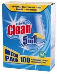 VAATWASTABLET AT HOME CLEAN 5-IN-1 -REINIGINGSMIDDELEN 54469 GLANSSPOEL CALGONIT 1000ML